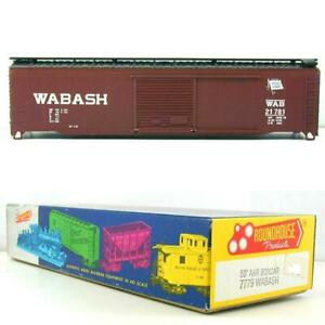 WABASH-21781-50-039-AAR-BOXCAR-Kit-Roundhouse-Model-Die-Casting-7779-HO