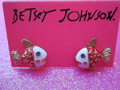Betsey Johnson Fish Stud Earrings