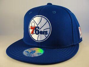 Philadelphia-76ers-NBA-Adidas-Fitted-Hat-Cap-Blue