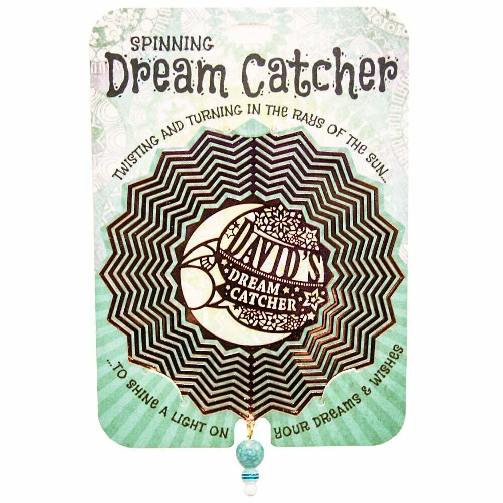 Personalised 3D Spinning Dream Catcher - David - Fast UK dispatch