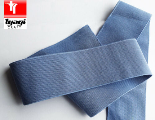 "2/"" 50MM SKY BLUE WIDE KNIT WOWEN ELASTIC WAISTBAND FLAT BELT SEWING"