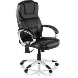 Chaise bureau massage et chauffage fauteuil executif Noir-McHaus
