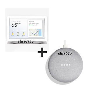 Google-Home-Hub-with-Google-Assistant-Chalk-Charcoal-Mini-Combo