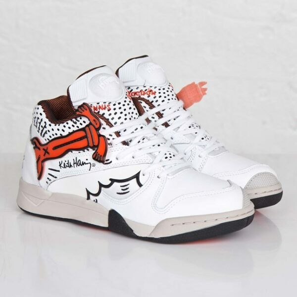 14b08ce3f27e0 REEBOK x KEITH HARING Court Victory Pump NEU Weiß Sneaker atmos patta yeezy  max