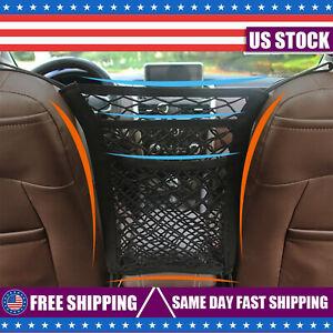 Layer Elastic Net Pocket Bag Between Car Seat Organizer Storage Mesh Holder
