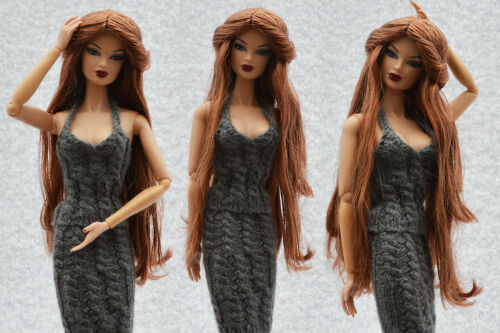 "Sherry Saran Doll Wig for 11.5-12/"" FR2//PP Fashion Royalty//Silkstone 5-FW-17"