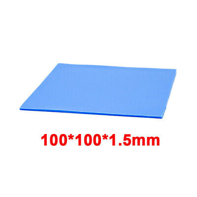 5x 100mmx100mmx1.5mm Silicone Pad Heat Sink Heatsink Thermal Conductive Cooling