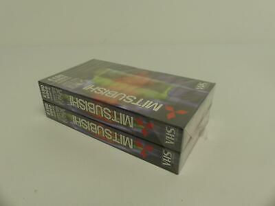(ref288aw) 2 Mitsubishi E180 Vhs Video Cassette Tapes Curar La Tos Y Facilitar La ExpectoracióN Y Aliviar La Ronquera