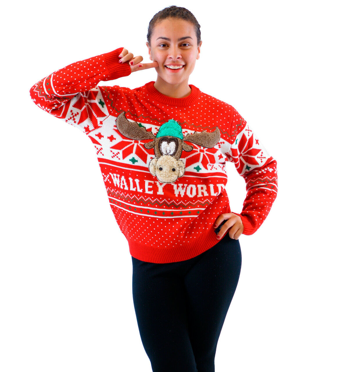 Adult Christmas Vacation Marty Moose Walley World rot Ugly Christmas schweißer