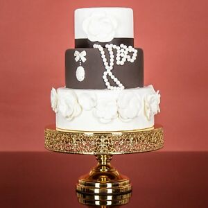 Image Is Loading 12 Inch Chrome Gold Plated Wedding Cake Stand