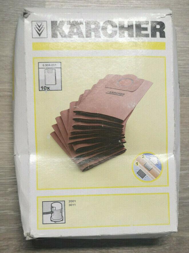 5x Staubsaugerbeutel Papier für Kärcher 6.904-051.0 6904-0510