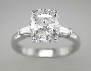 Diamond-Ring-Cushion-Cut-Platinum-Engagement-Ring-1-30ct-Certified-D-IF-VG