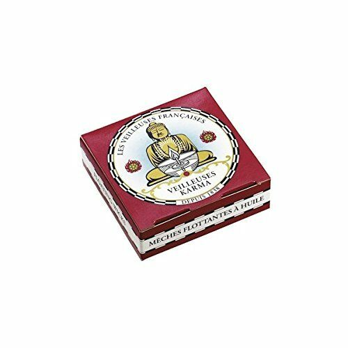 Box Of 32 Karma Floating Candle Wicks-Made In France Since 1838