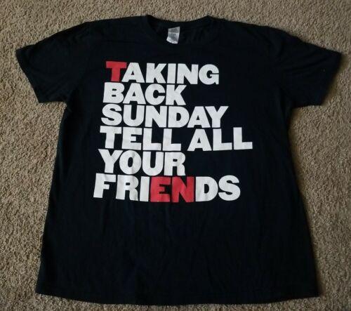 Taking Back Sunday Black T-Shirt RARE Size Medium