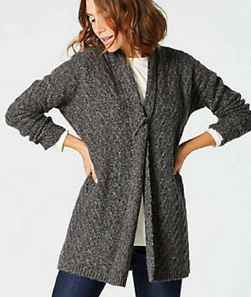 J.Jill    Open-Front Cable Cardigan   4X   NWT    GREY