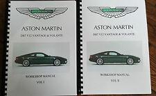Aston MARTIN db7 v12 Vantage & VOLANTE Workshop Manuale 99-03, ristampa completa