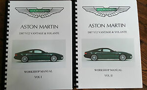 aston martin db7 v12 vantage volante workshop manual 99 03 rh ebay co uk aston martin db7 service manual aston martin db7 owners manual pdf