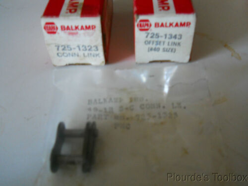 Balkamp Napa Roller Chain 40-1R S-C Connecting Links Lot of 725-1323 2
