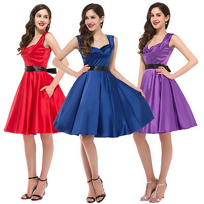 RETRO 50's Vintage Style Evening Party Tea Dress Swing Skaters BEST !