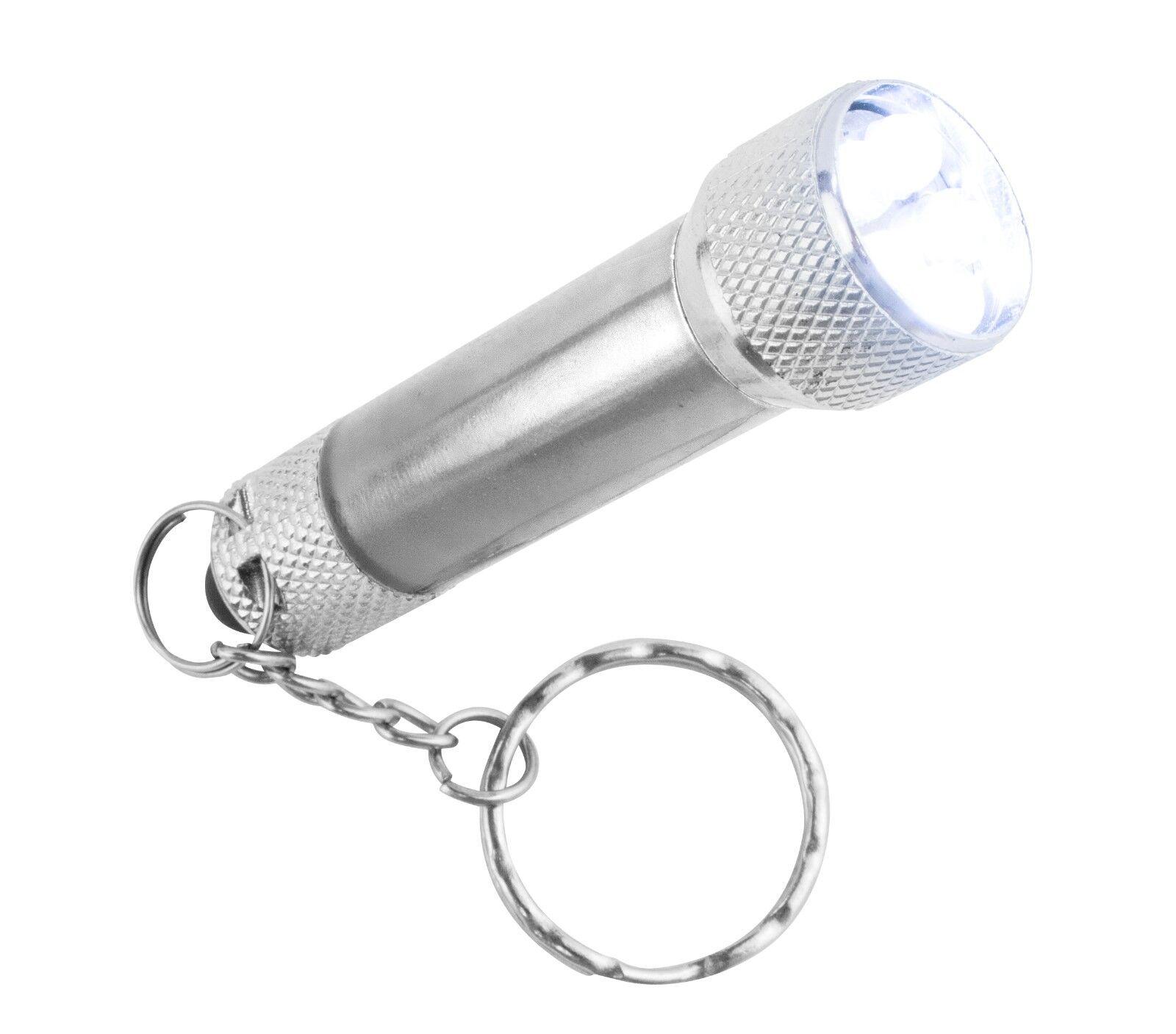 500 X Uniross - 3 LED Linterna Antorcha Mini Batería Aluminio Pequeño/Llavero Con Batería Mini 5ca797