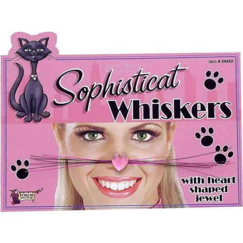 Sophisticat Whiskers Cat Black Pink Fancy Dress Halloween Costume Accessory