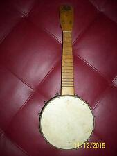 """winner  BANJO Banjo Uke~Birds-Eye Maple old rare 7 1/2 skin 14"""" neck with tag"""