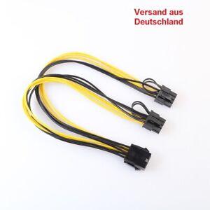 8pin en doble PCI-e 8pin (6pin + 2pin) de gráficos de tarjeta gráfica de alimentación corriente de cable