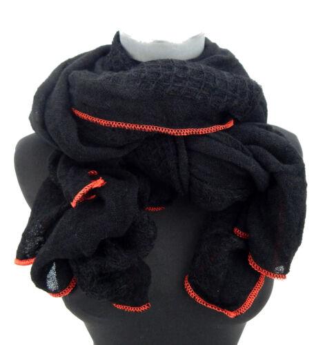 Damenschal schwarz rot by Ella Jonte Schal Herbst Winter weich und wärmend neu