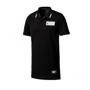 Puma Polo Sports Noir 850033 pour les Style hommes Top courtes Coton manches à rPrW1n6F