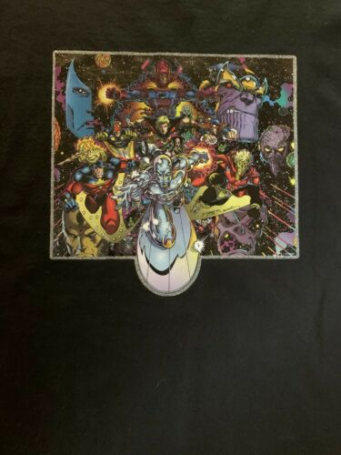 Vintage Marvel Thanos shirt Galactus Nova Captain