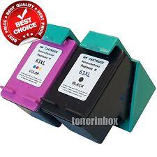 2PK Rem. 63XL Black & Color Ink set  for Deskjet 1110 1112 2130 2131 2132 2133