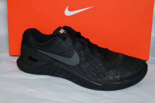 d564bdd75798 Nike Mens Metcon 3 Cross Training Shoes 852928-002 Black Sz 8 Treads11