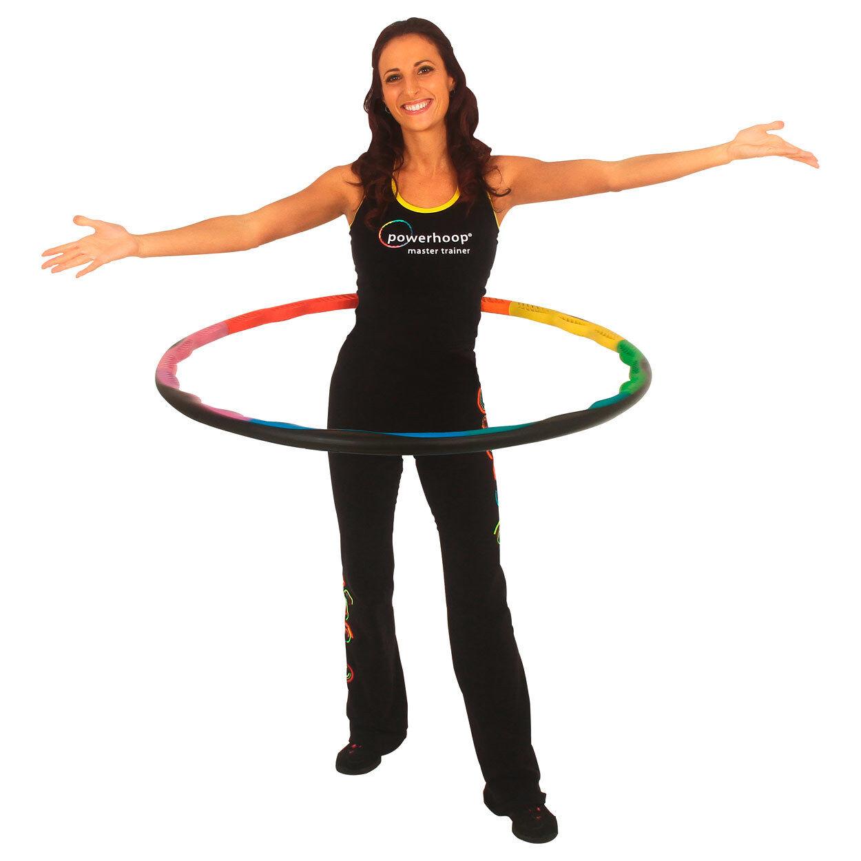 Powerhoop Deluxe Hula Hoop Reifen verstellbar, Gymnastikreifen, 100 cm