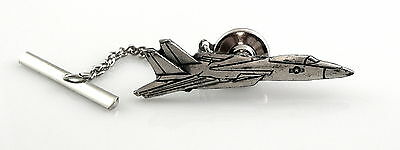 BIG Vintage 1970s Sterling US AIRFORCE MILITARY FIGHTER JET Tie Tac Lapel PIN