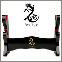 Tenryu Wood Two In One Table Top Or Wall Mount Display Stand For 2 Swords