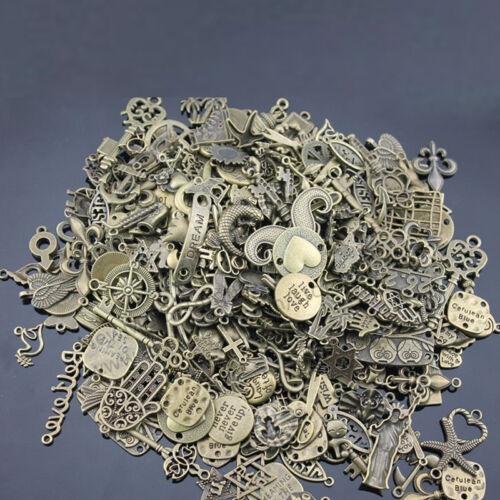 100g Mixed Vintage Old Look Keys Charms Bronze Silver Steampunk Pendants DIY