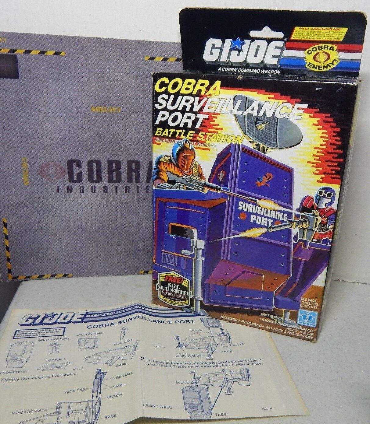 Gi - joe - 1986 cobra überwachung port & box - 100% mit blaupausen  ungebrochen