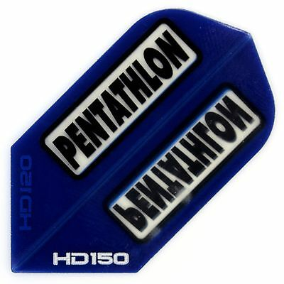 DART FLIGHTS - PENTATHLON - SLIM - HD150 - BLAU (Menge u. Slot-Lock wählbar)