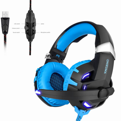 Onikuma K2 Gaming Headset USB 7.1 Headphone with Mic for PC Computer Laptop