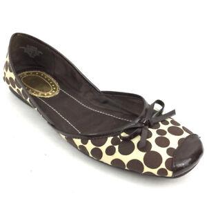 79f383b95100 Sam   Libby Women s Flats Ballet Slip On Career Shoes Brown Print ...