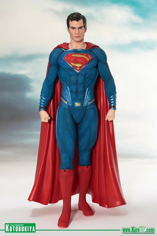 2017 DC KOTOBUKIYA ARTFX+ JUSTICE LEAGUE MOVIE SUPERMAN 1 10 SCALE STATUE MIB
