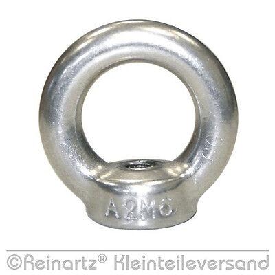 5 St. Ringmuttern Ringmutter M6 Edelstahl V2A Zurröse