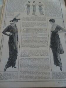 ANCIENNE REVUE MODE PRATIQUE  AVEC PLANCHE PATRONS + PATRONS DECOUPES 1914 N°8