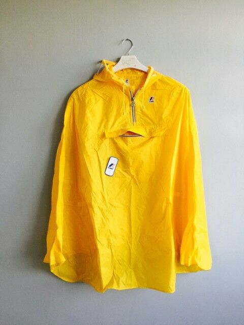 K-Way Yellow rainproof trekking hiking camping cycling poncho festival size XL
