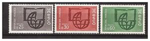 s24403-DEALER-STOCK-FRANCE-1966-MNH-Nuovi-Service-UNESCO-3v-X10-SETS
