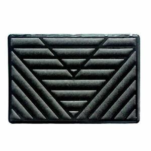 Black-PVC-Car-Floor-Carpet-Pad-Heel-Foot-Mat-Pedal-Patch-Cover-25cm-x-15cm-dgg