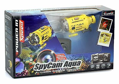 silverlit spy cam aque - rc submarine with integrated camera