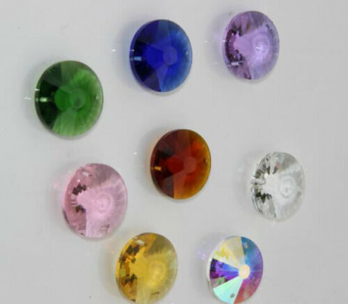 4pcs 40mm Sunflower Glass Crystal Lamp Prism Chandelier Hanging Drop Pendant