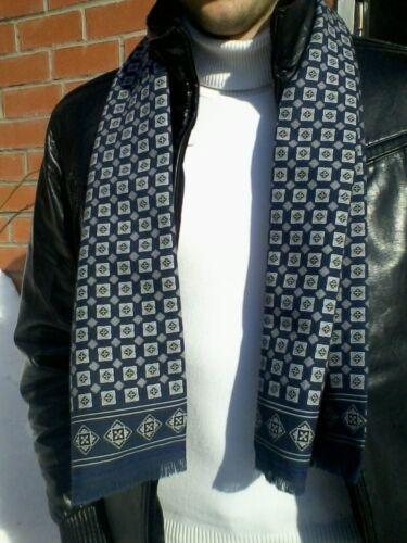 756-1 MEN/'S PAVLOVO POSAD SCARF RUSSIAN TIE CRAVAT CLOTHING 100/%MERINO WOOL GIFT