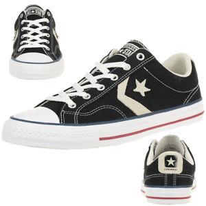 Details zu Converse STAR PLAYER OX Schuhe Sneaker Canvas Schwarz 144145C